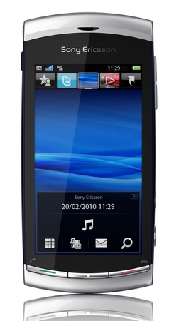 Sony Ericsson Vivaz Symbian Phone with 8Mpix Camera Front Vertical