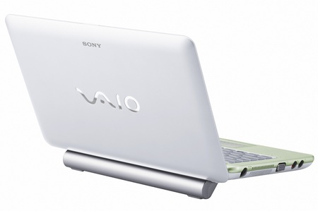 Sony VAIO W Pine Trail Atom Netbook back