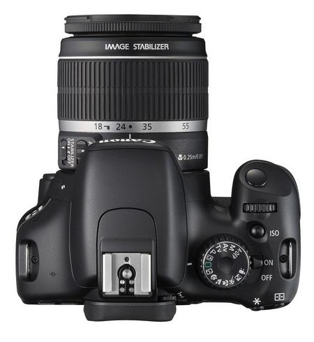 Canon EOS 550D DSLR Camera top