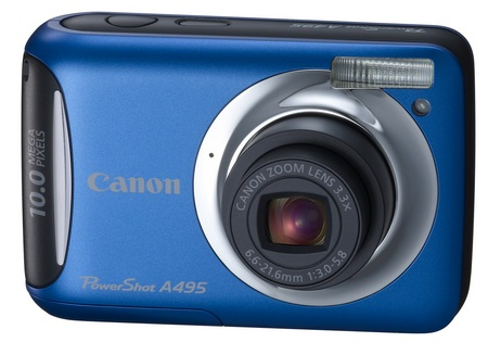 Canon PowerShot A495 entry-level digicam blue