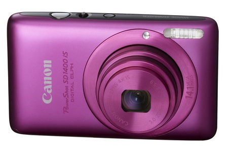 Canon PowerShot SD1400 IS digital camera pink