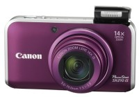 Canon PowerShot SX210 IS Digital Camera with 14x Zoom purple