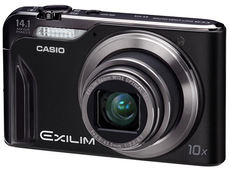 Casio EXILIM EX-H15 10x zoom camera angle