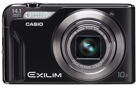 Casio EXILIM EX-H15 10x zoom camera front
