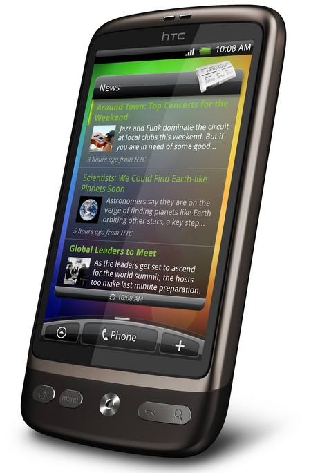 HTC Desire - Nexus One with HTC Sense and a new look angle