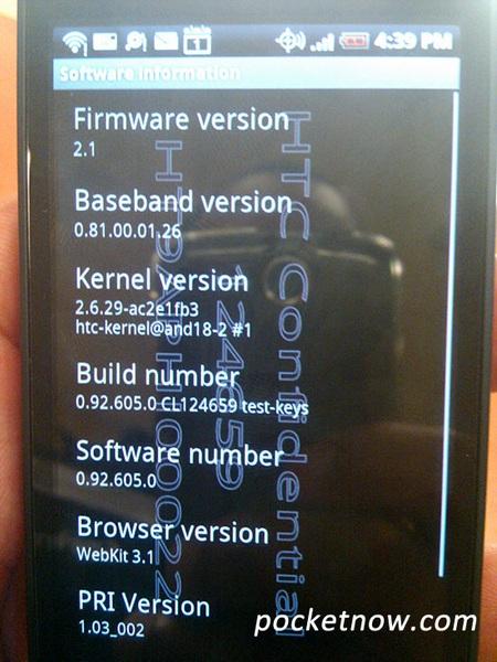 HTC Incredible info