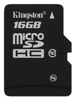 Kingston 16GB Class 10 microSDHC