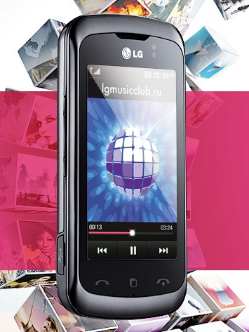 LG KM555e Clubby Mobile Phone for Russia