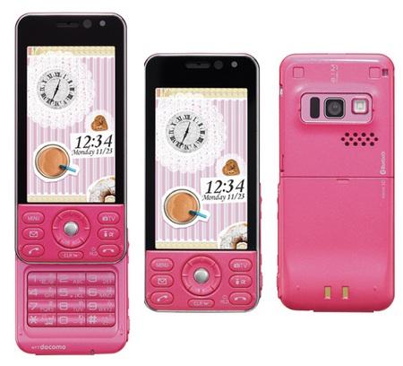 NTT docomo Panasonic P-02B Slider Phone pink