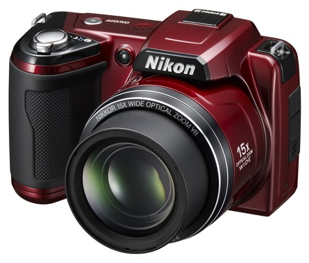 Nikon CoolPix L110 15x zoom camera red