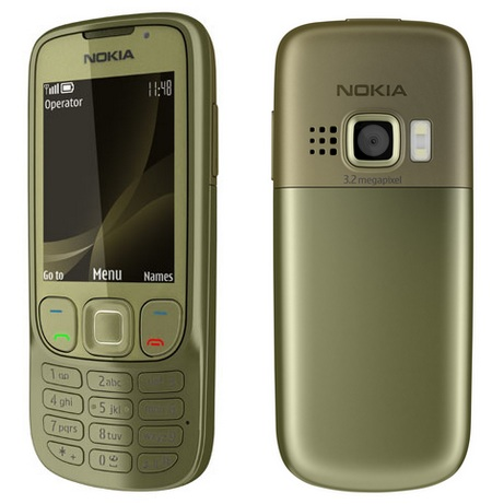 Nokia 6303i classic mobile phone khaki gold