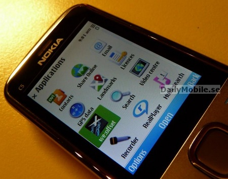 Nokia C5 S60 Phone Leaked apps