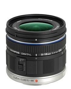 Olympus M.ZUIKO DIGITAL ED 9-18mm F4.0-5.6 lens