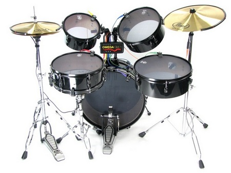 Omega Music GM-1 System offers real drums and cymbals
