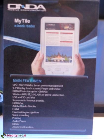 Onda MyTile Color e-book reader features