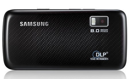 Samsung Halo i8520 Projector Phone with Android back