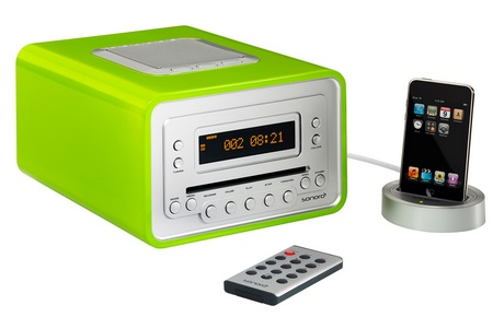 Sonoro Cubo Audio System with eDock for iPod green