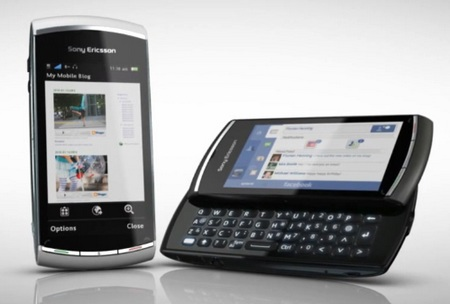 Sony Ericsson Vivaz pro QWERTY Symbian Phone colors
