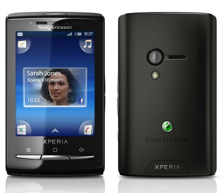 Sony ericsson Xperia X10 mini android phone front back