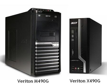 Acer Veriton M490G and X490G Business Desktop PCs