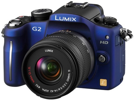 Panasonic Lumix DMC-G2 Micro Four Thirds Camera blue