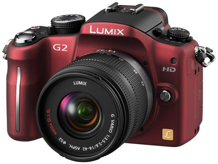Panasonic Lumix DMC-G2 Micro Four Thirds Camera red