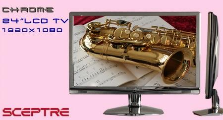 Sceptre 240CC-FHD Chrome Full HD LCD HDTV/Display
