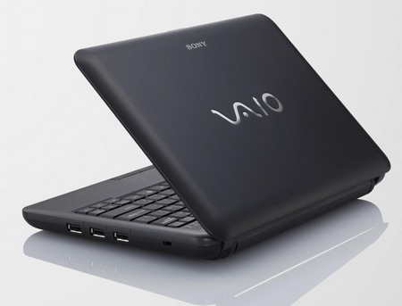 Sony VAIO M series Mini Notebook black lid