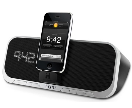 iHome iA5 app-enhanced alarm clock speaker system for iPhone and iPod