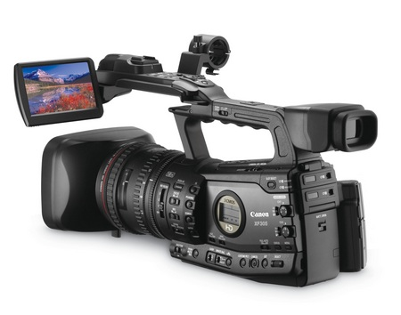 Canon XF305 and XF300 Professional Camcorders angle