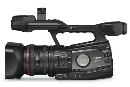 Canon XF305 and XF300 Professional Camcorders side