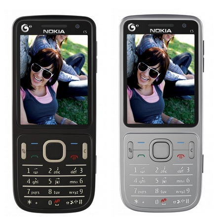 Nokia C5-01 TD-SCDMA S60 Phone black silver front