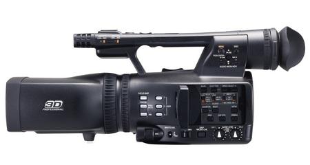 Panasonic AVCCAM AG-3DA1 Full HD 3D Professional Camcorder side LCD open