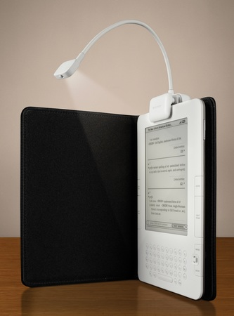 Belkin eBook Light for Amazon Kindle in use