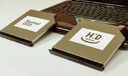 Hitachi-LG HyDrive Optical Drive with 32GB 64GB SSD