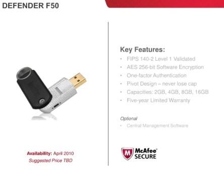 Imation Defender F50 Secure USB flash drive