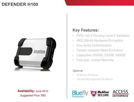 Imation Defender H100 Secure external hard drive