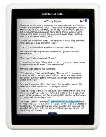 Pandigital Novel WiFi e-Book Reader with B&N eBookstore Access reading