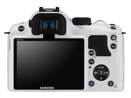 Samsung NX10 Limited White Edition back
