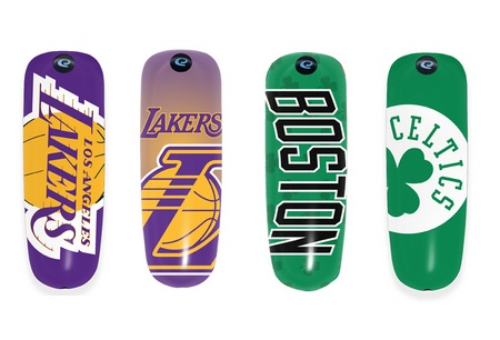 Earloomz Lakers and Celtics Bluetooth Headsets