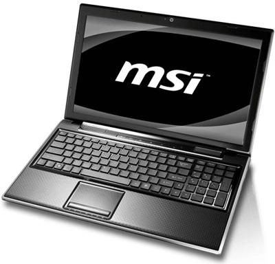 MSI FX400, FX600, FX610, FX700, and FR600 Stylish Notebooks