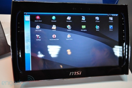 MSI WindPad 110 Tegra 2 Tablet runs Android