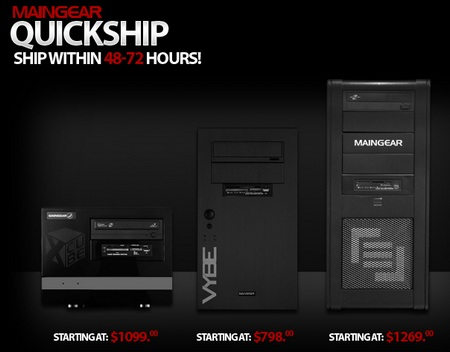 MainGear Quick Ship Edition PC Systems