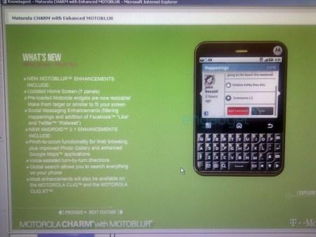 Motorola Charm with Enhanced MOTOBLUR Heading to T-Mobile