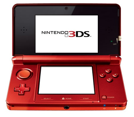 Nintendo 3DS Glasses-Free 3D Gaming System red