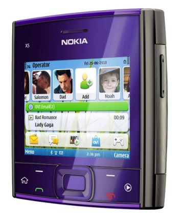 Nokia X5-01 Square QWERTY Phone purple