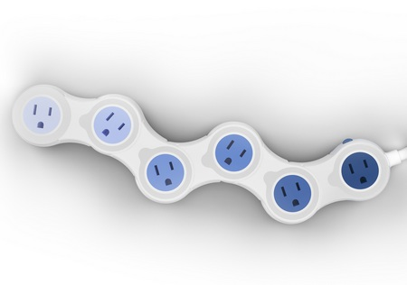 Quirky Pivot Power Adjustable Power Strip 1