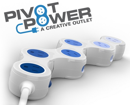 Quirky Pivot Power Adjustable Power Strip