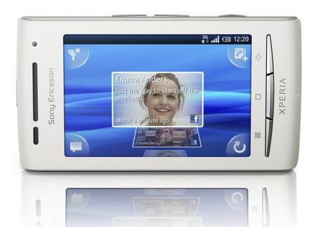 Sony Ericsson Xperia X8 Android Smartphone horizontal view