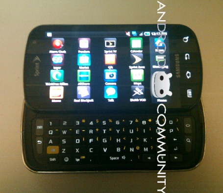 Sprint Samsung Galaxy S Pro with 4G and QWERTY keyboard